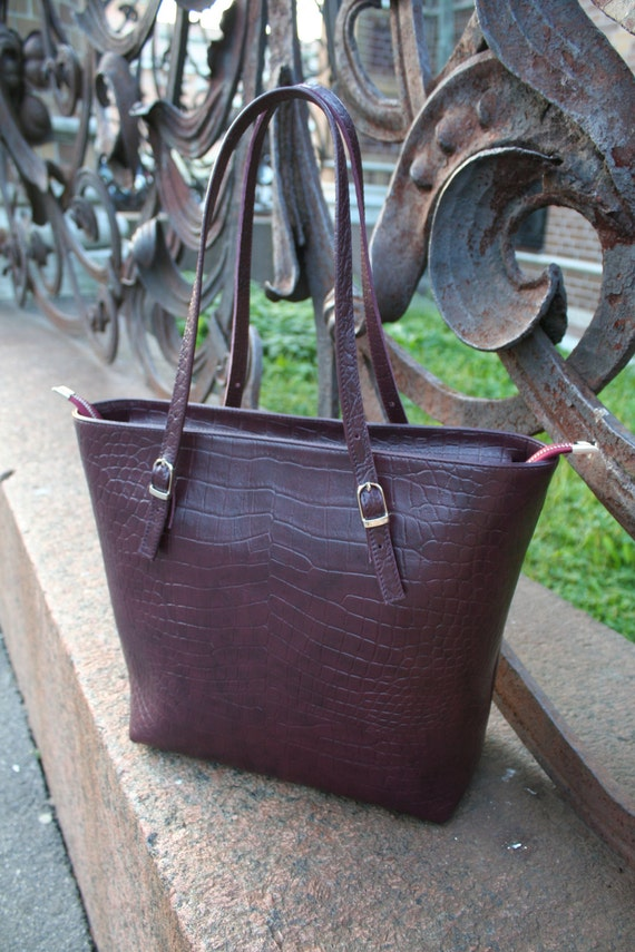 "Large leather bag ""Ledi Di""! Genuine leather, handmade."