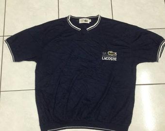 Vintage La chemise Lacoste big logo Dark Blue