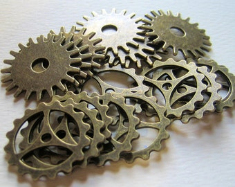 Metal Gears Steampunk Cogs Assorted Quantity 17 Style #9