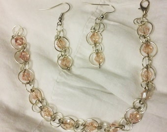 Tranquility Chain Bracelet and Earrings Set