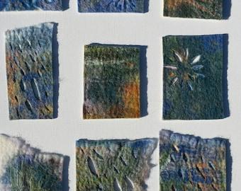 Canvas of 9 felt pieces