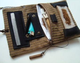 Handmade Tobacco Pouch, Tobacco Pouch, Vegan Wallet, Smoking Kit, Pouch, Tabakbeutel, Tobacco Case, Porta Tabacco, Rolling Pouch,Vegan Pouch