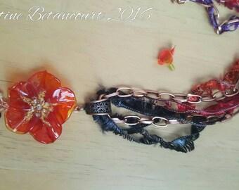 Lampwork bead flower