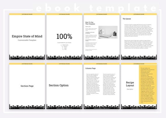 New York-Inspired Modern Minimalist | Customizable eBook Template | Google Docs / Windows Word DOCX / Mac Pages / A4 / Letter Available