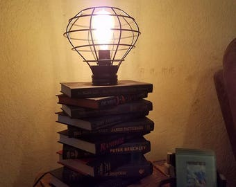 Book Lamp with Metal Cover