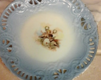 1800s Antique Painted Plate