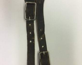 7005-1 CHILD SPUR STRAPS, Lighter Weight Leather, very pliable, nice heavy duty metal buckle, Adjustable