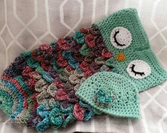 Crochet Owl Infant Sleep Sack