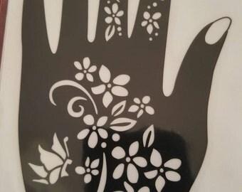 Flower Henna Stencil