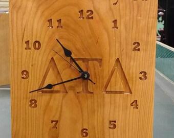 Custom made hardwood clocks. Choose the type of wood and your design.