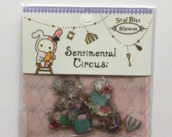San-X sentimental circus sticker - 80 pieces