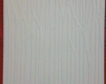 Birch Tree Forest Embossed White Card Fronts (4)