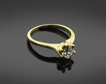Imitation Gold Engagement Ring