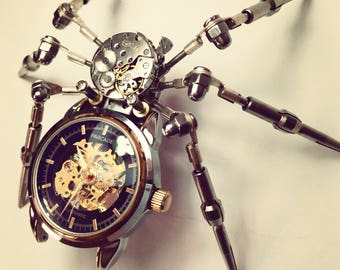 Steam punk spider - steam punk sculpture - steam punk statue - steam punk Art
