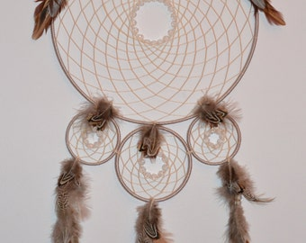 Silver and Cream Large Dreamcatcher