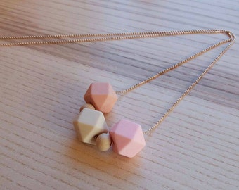 Silicone beads/Teething necklace/chain/necklace bites/nurse Nursing necklace/Lillefe/two color options