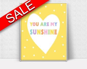 Wall Decor Sunshine Printable Sunshine Prints Sunshine Sign Sunshine Nursery Art Sunshine Nursery Print Sunshine Printable Art Sunshine