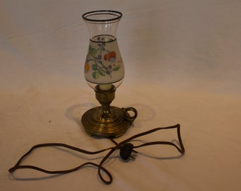 Antique Vintage Handel Hurricane Lamp circa early 1900's - FREE SHIPPING!