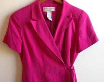 80's Women's Suit Style Wrap Dress