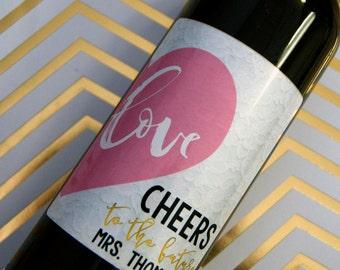 Wedding Wine Label, Engagement Wine Label, Wedding Label, Personalized Wedding Label, Wedding Gift, Custom Wine Label, Engagement Gift, Wine