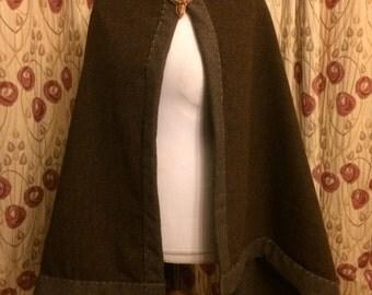 Wool  Cloak  Viking Saxon Reenactment Trade Cloak double 100% wool fabric