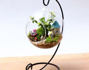 Hanging Glass Vase DIY Planting Hydroponic Plant Flower Container Home Garden Decor Terrarium Home