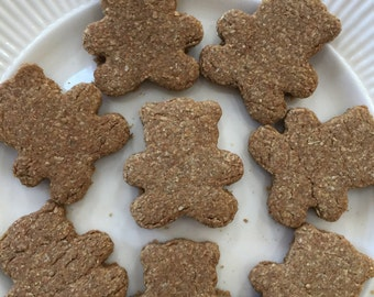 Ginger Bears,Dog Treat,Organic,Whole Wheat,Groovy Pup Bakery,All Natural,Homemade,Fresh Ingredients,Baked to Order,Crunchy,Soft,Mini Treats