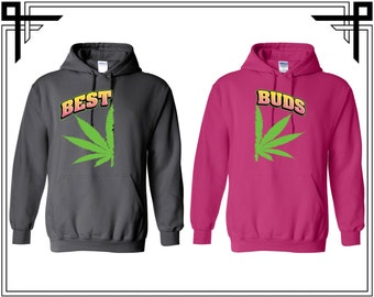 best buds hoodies etsy. Black Bedroom Furniture Sets. Home Design Ideas