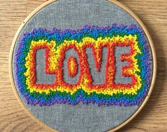 Pride Love cross stitch