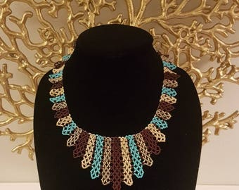RUMDÉ Turquoise/Brown Beaded Necklace