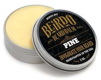 Beard Balm / Pine scent / natural oils / beard balm / manly scent / beard care / gifts for men / gifts for him / mens grooming / Beirdo