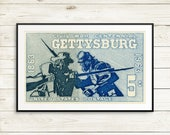 Civil war poster, civil war art, Gettysburg poster, Gettysburg art, Civil war gift, Civil war prints, Civil war print set, US Civil War