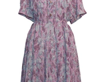 1940's Style Printed Dress
