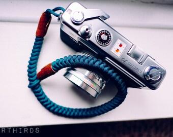 Camera Wrist Strap, Teal, Paracord camera strap