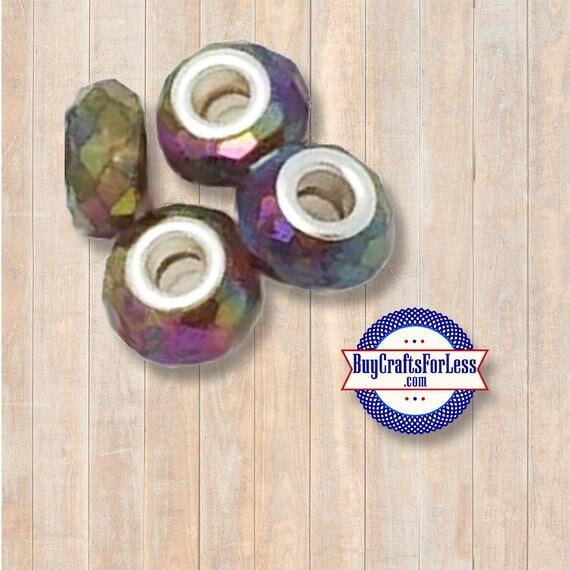 Acrylic Beads, rainbow, 8 pcs  +Discounts & FREE Shipping*