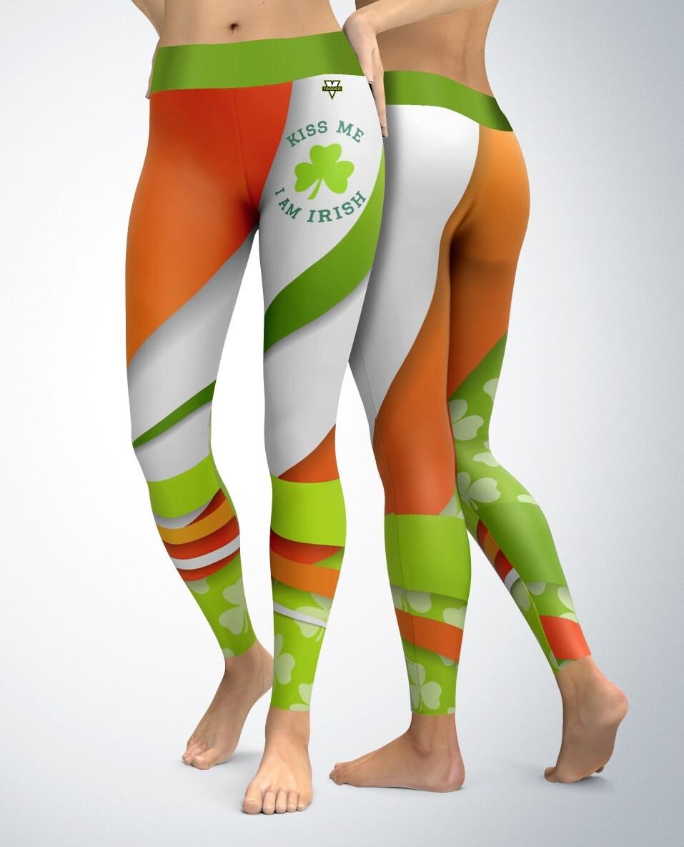Kiss Me I'm Irish Leggings Womens Leggings Capri
