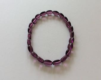 Purple beaded bracelet / purple bracelet / purple jewellery / purple gift / beaded jewellery / beaded gift