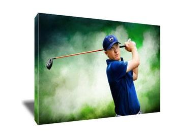 FREE SHIPPING Golf Star Jordan Spieth Canvas Art