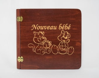 Wooden, small stuffed animals (105224) photo album