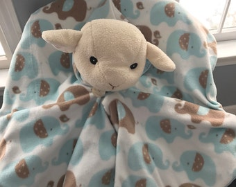Cuddle Cape - car Seat Friendly Poncho - elephants - Blue