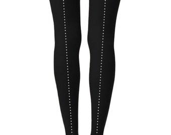Rhinestone decorated tights