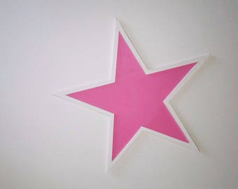 Star wall pink and white for decoration