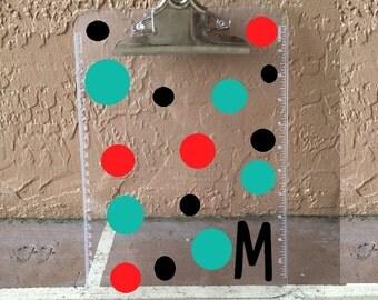Polka Dot Clipboard, teacher clipboard, office clipboard, teacher appreciation, Personalized, Teacher Gift, Teacher Appreciation Gift