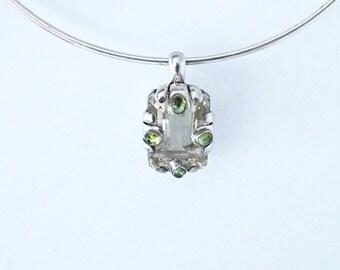 925 Silver sterling ,peridot gemstones