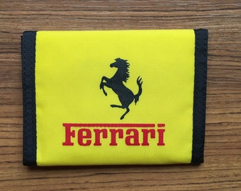 Super Cool Yellow Ferrari Ripper Velcro Wallet from the 80's. Made in the USA!