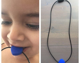 Autism Chewing Necklace, Textured Silicone chew necklace, chewing necklace, chewable necklace, autsim chew