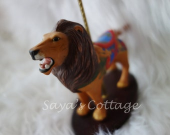 Vintage-Franklin Mint Treasury of Carousel Art Collection / Lion / Carousel Horse / Figure