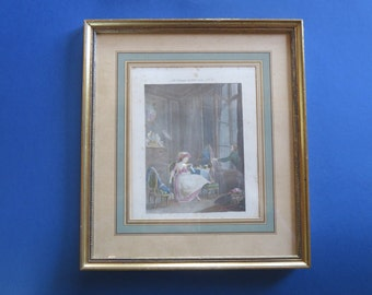 Belle RReproduction - Print from the 18th Century French -Glass Framed -
