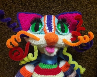 crochet toy Rainbow cat