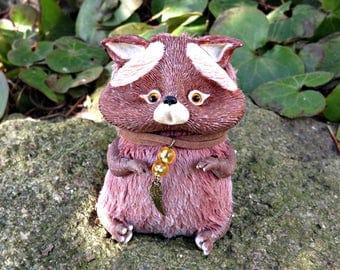 Fox art doll fantasy creature miniature ooak toy plush  sculpted furry artist animal figure decor polymer clay collectible creative wip